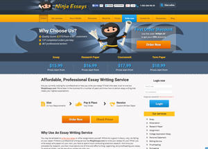 ninjaessays.com screenshot